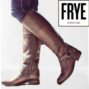 FRYE MELISSA BROWN KNEE HIGH BOOTS